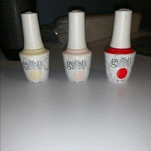OPI and Gelish gel polish